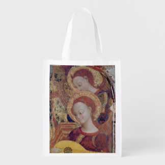 Angel musicians from painting of Virgin and Child Reusable Grocery Bag