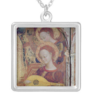 Angel musicians from painting of Virgin and Child Silver Plated Necklace