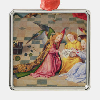 Angel musicians from right panel of altarpiece christmas ornament