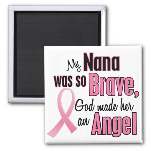 Angel NANA Breast Cancer T-Shirts & Apparel Magnet