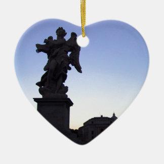 ANGEL NEAR VATICAN, ON PONTE SANT' ANGELO CERAMIC HEART DECORATION