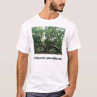 angel oak, From tiny acorns, grow mighty oaks! T-Shirt