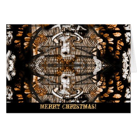 Angel of christmas greeting card