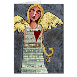 Angel of Courage - all-occasion greeting card