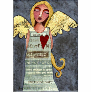 Angel of Courage - Christmas ornament Standing Photo Sculpture