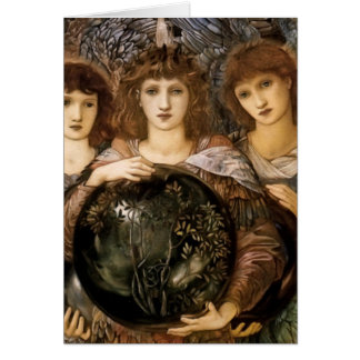 Angel of Creation by William Burne-Jones Greeting Card