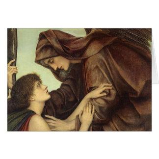 Angel of Death by Evelyn De Morgan Greeting Card
