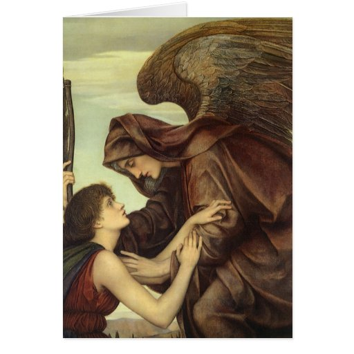 Angel of Death (detail) by Evelyn De Morgan Cards
