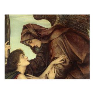 Angel of Death detail by Evelyn De Morgan Postcards