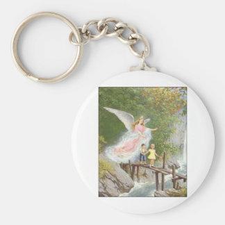 Angel of God my guardian dear! Basic Round Button Key Ring