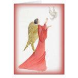 Angel of God Religious Christmas Card
