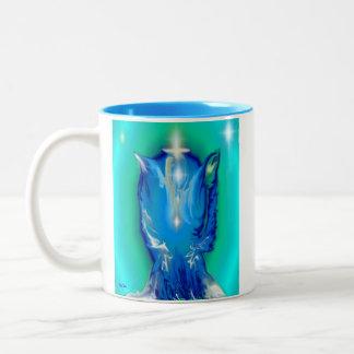 Angel Of Healing Two-Tone Coffee Mug
