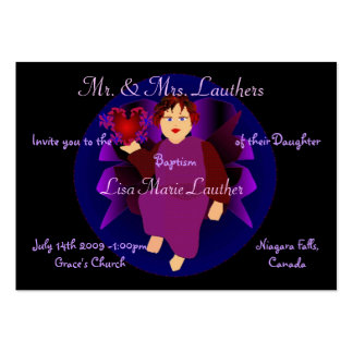 Angel Of Hearts III Business Card Template