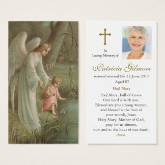 Angel Of Heaven Funeral Sympathy Prayer Card