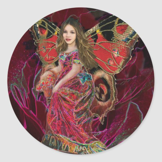 Angel of Love Classic Round Sticker