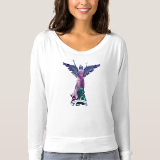 Angel of Mystical Backpackers Long-Sleeved T-Shirt
