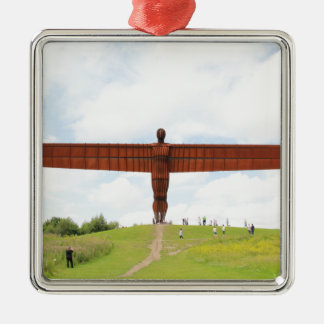 Angel Of North Silver-Colored Square Decoration
