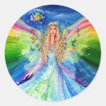 Angel of Peace Round Sticker