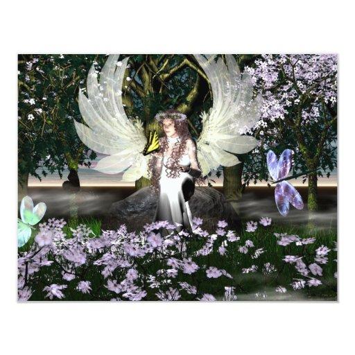 Angel of Thankfulness 11 Cm X 14 Cm Invitation Card