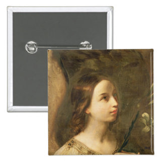 Angel of the Annunciation 15 Cm Square Badge