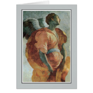 Angel of the Annunciation by Jacopo da Pontormo Greeting Card
