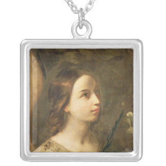 Angel of the Annunciation Silver Plated Necklace