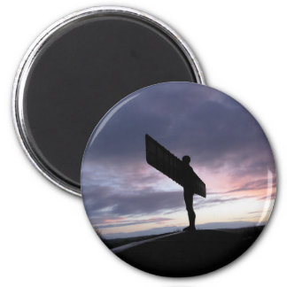 Angel of The North 6 Cm Round Magnet