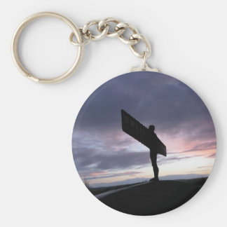 Angel of The North Basic Round Button Key Ring