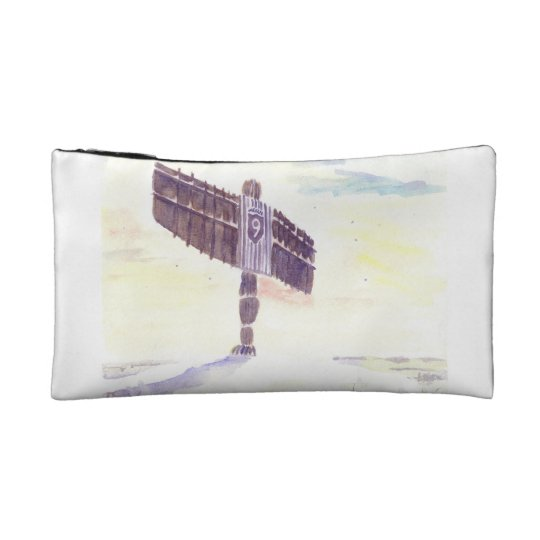 Angel of the North Christmas cosmetic bag. Makeup