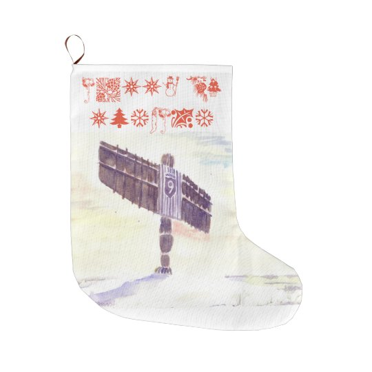 Angel of the North Christmas Stocking