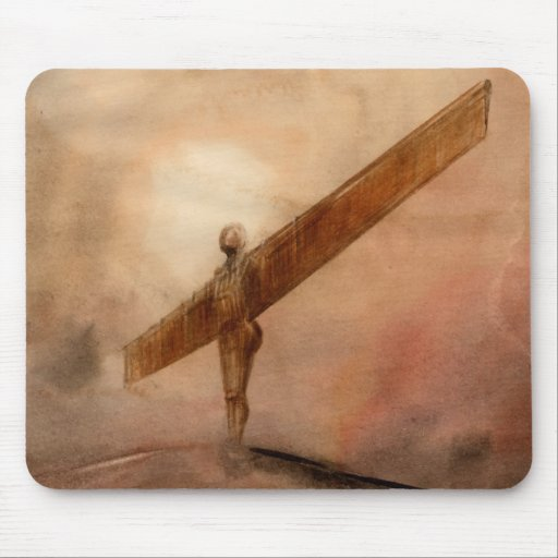 Angel of The North Fitted Ladies Mouse Pad