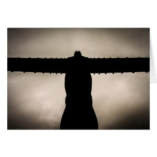 Angel of the North silhouette Card