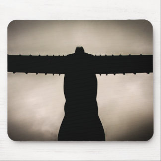 Angel of the North silouette Mouse Mat