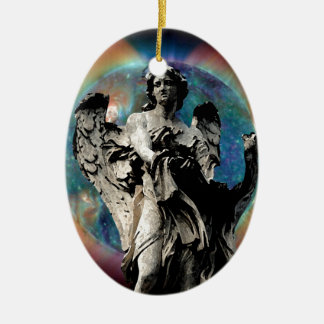 Angel of the Solstice Ceramic Oval Decoration