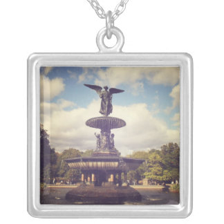 Angel of the Waters, Bethesda Fountain, Central Pa Silver Plated Necklace