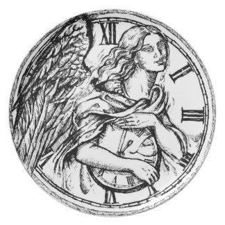 Angel of Time - Melamine Plate