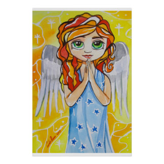 Angel of virtue cute girl painting Gordon Bruce Poster