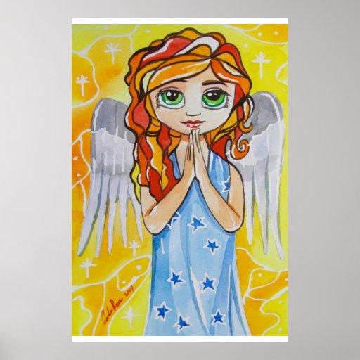 Angel of virtue cute girl painting Gordon Bruce Posters