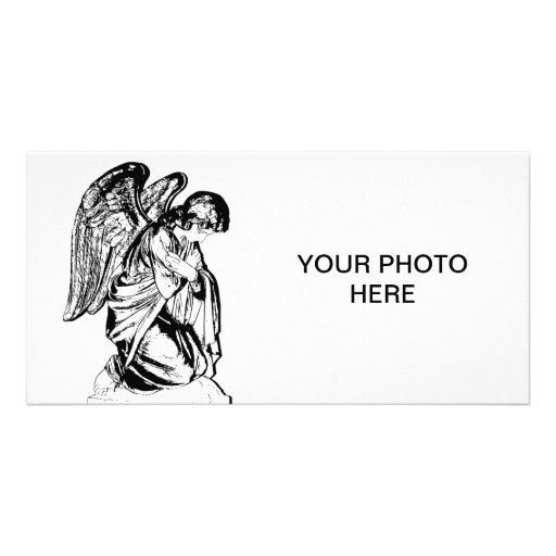 Angel on any color photo card template