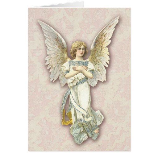 Angel On Pink Lace Cards
