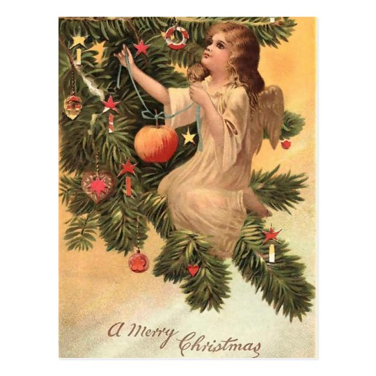 Angel on the Christmas Tree Postcard