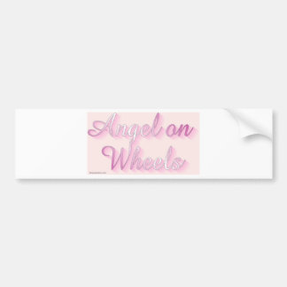 angel_on_wheels bumper sticker