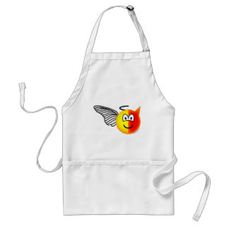 Angel or devil emoticon standard apron