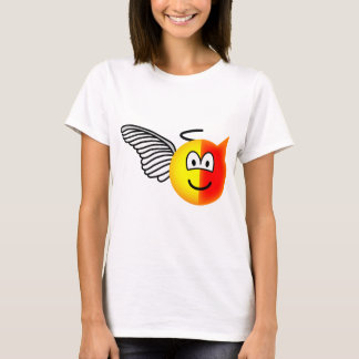 Angel or devil emoticon T-Shirt