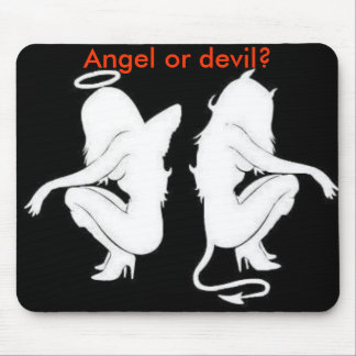 Angel or devil? mousepad