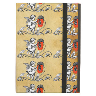 Angel Painting A Red Flower Parchment iPad Covers