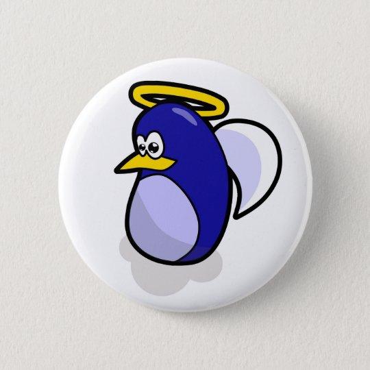 Angel penguin button