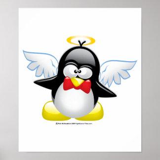 Angel Penguin Poster