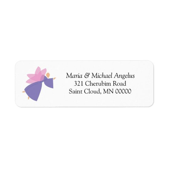 Angel Personalised Weddings Invitations Stickers