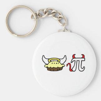 Angel Pie and Devil Pi Key Ring